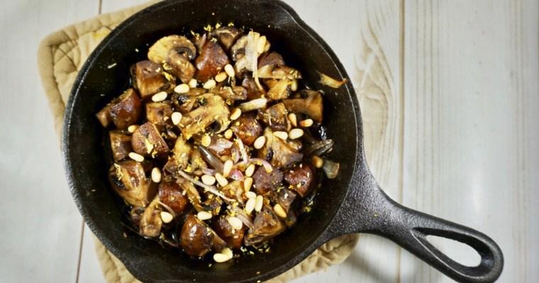 Duck Fat Roasted Mushrooms