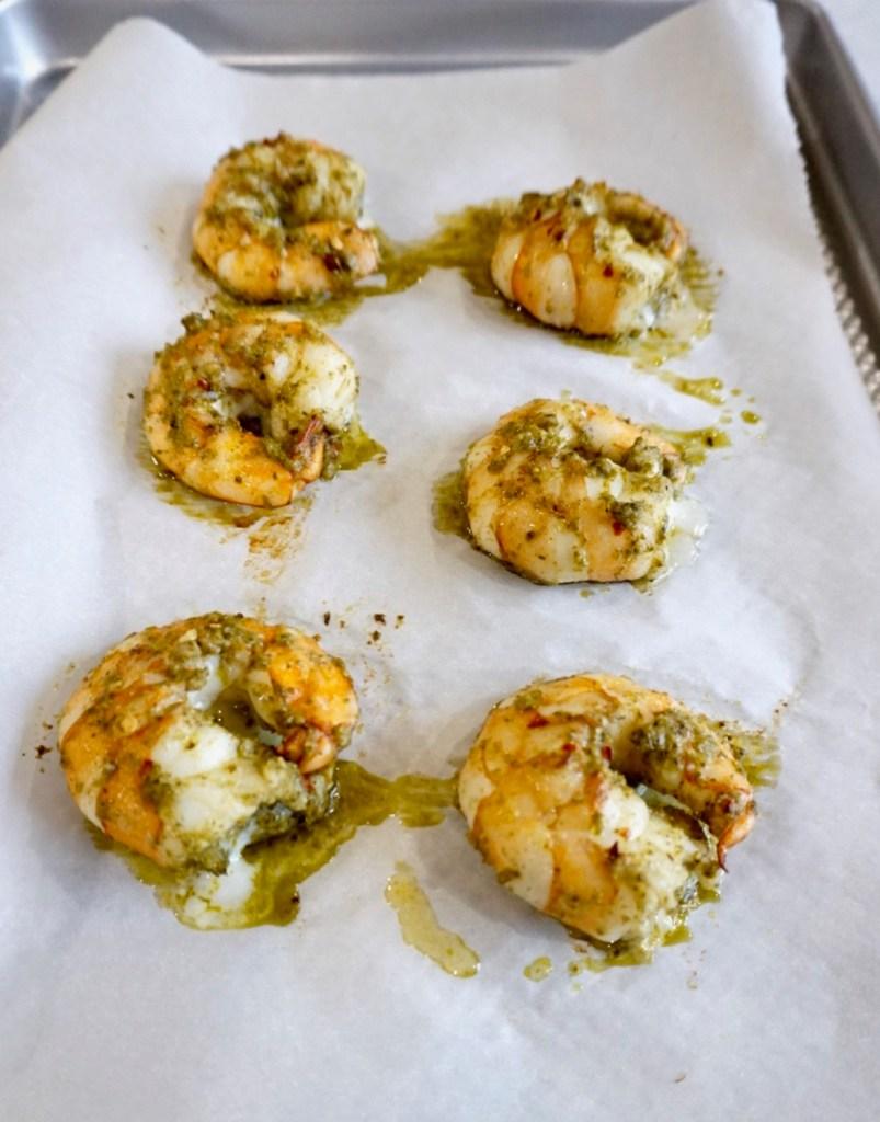Jumbo Pesto Shrimp with Superfood Pilaf
