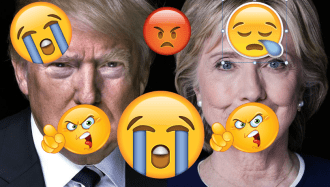 clinton-trump-with-emojis