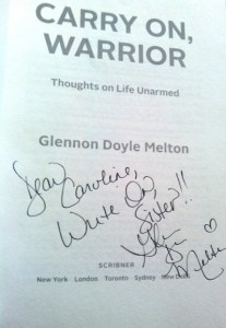 Carry On Warrior, writer who is just starting out