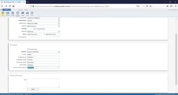 dokument awizacyjny, oprogramowanie