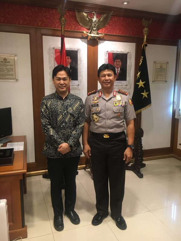 With Mr. Ari Dono Deputy Chief Indonesia Police officer