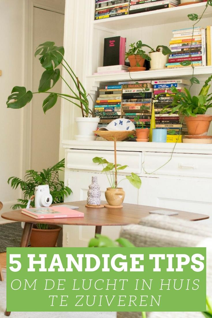 5 handige tips om de lucht in huis te zuiveren