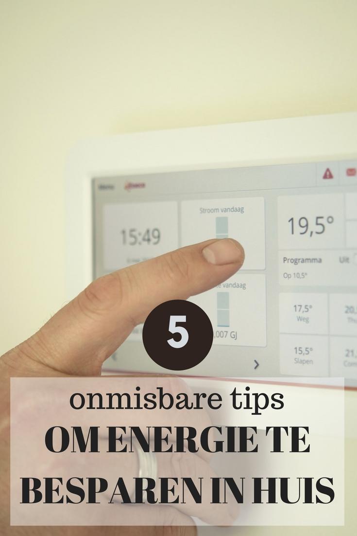 5 tips om energie te besparen in huis