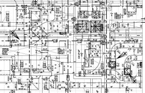 Detail of the AutoCAD shop drawing produced by AWL
