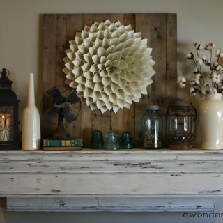 Decorating a Late Summer Mantel