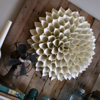 How to make a Dahlia book page wreath