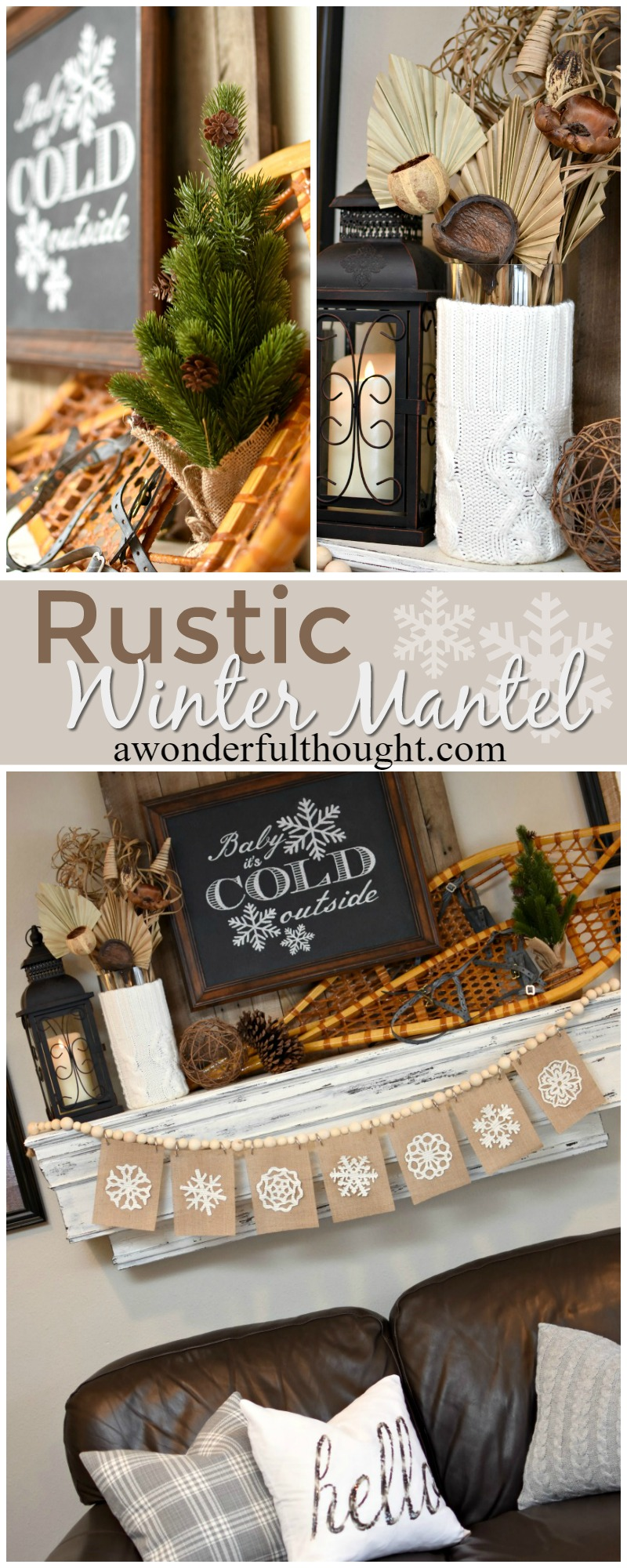 Rustic Winter Mantel A Wonderful Thought