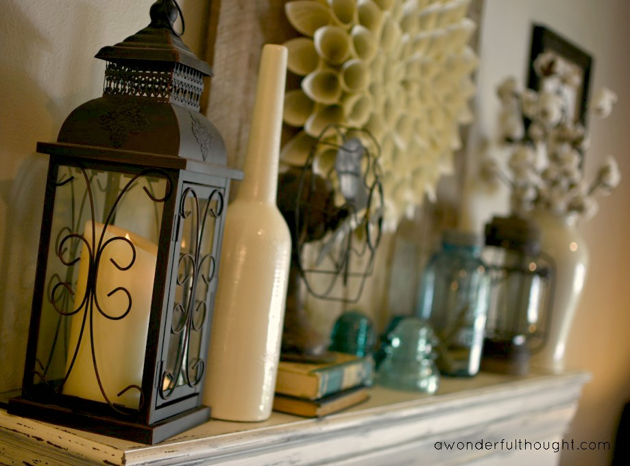 A Wonderful Thought | Late Summer Mantel | www.awonderfulthought.com