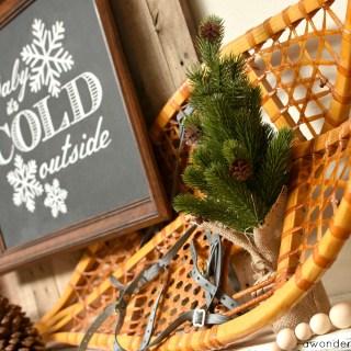 Rustic Winter Mantel