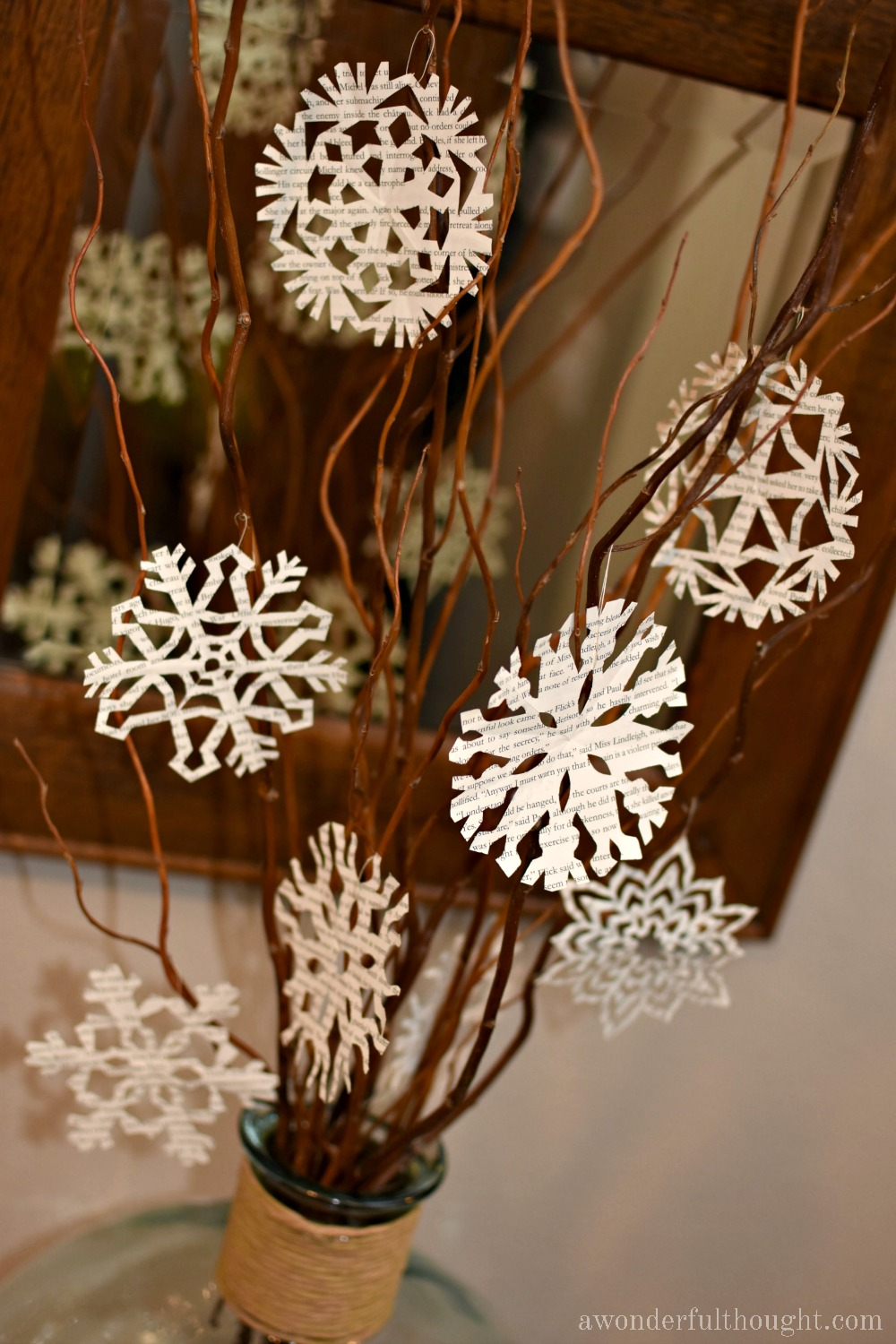 How to Make an Easy Snowflake Tree   awonderfulthought.com