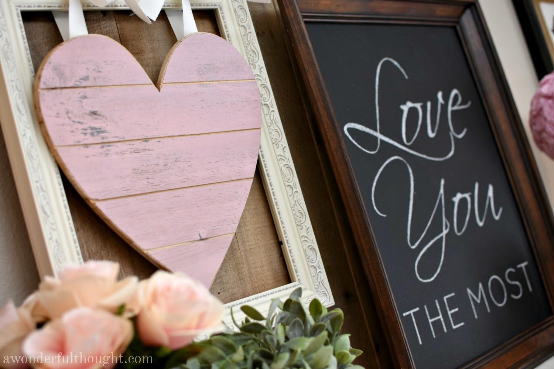 Pretty In Pink Amp Gray Valentine S Day Mantel
