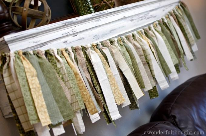 DIY Fabric Garland   awonderfulthought.com
