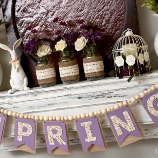 A Purple Palette Spring Mantel