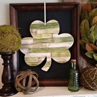 DIY Wood Shim Shamrock