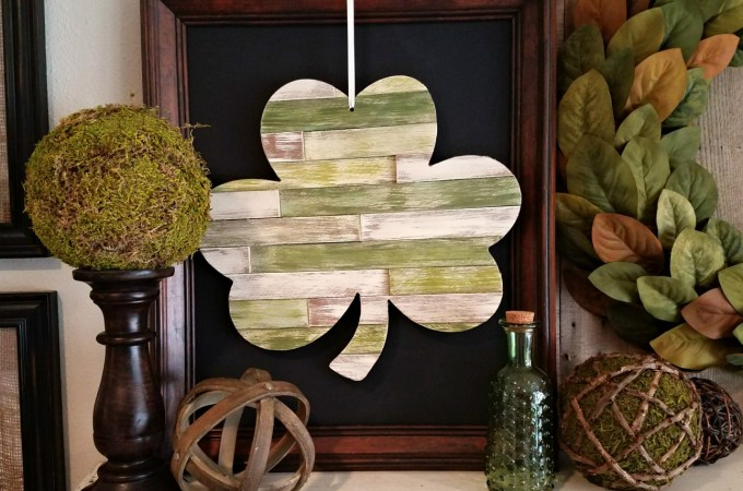 DIY Wood Shim Shamrock | awonderfulthought.com