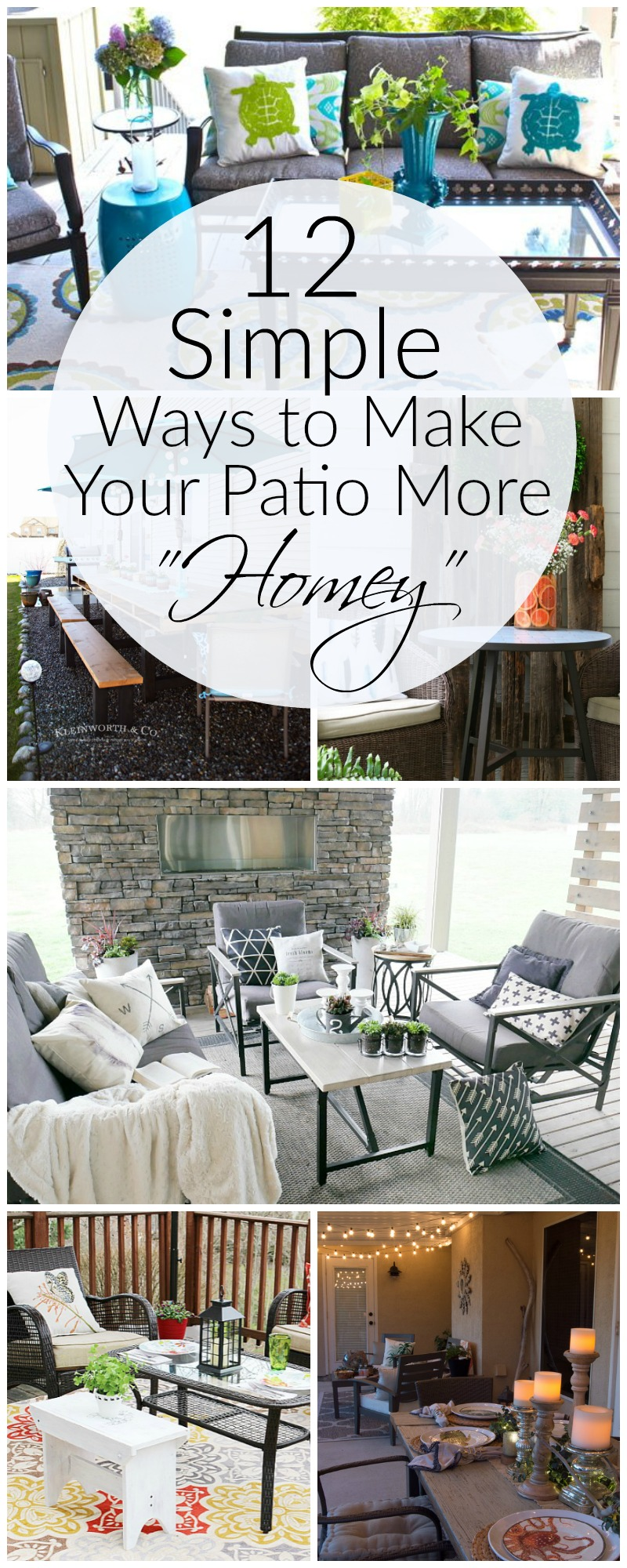 12 simple ways to make your patio or deck more homey. Add coziness by doing these simple tips | awonderfulthought.com