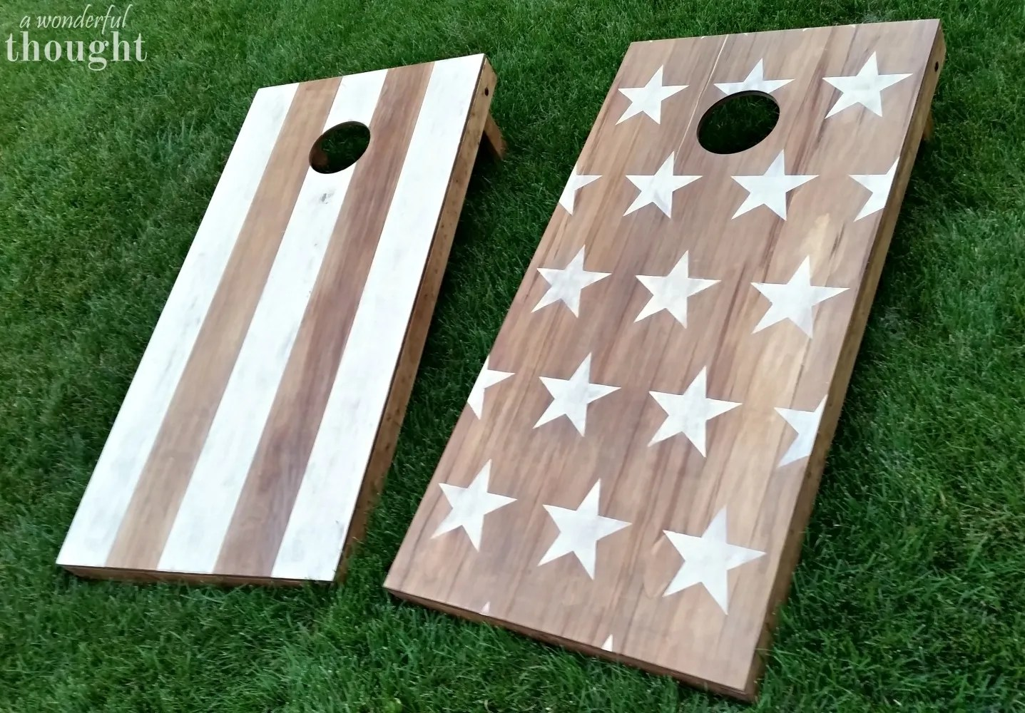 Great tutorial on how to make DIY cornhole boards aka bean bag toss | awonderfulthought.com