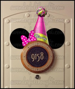 Stateroom Mickey Ears Birthday Hat Minnie | awonderfulthought.com