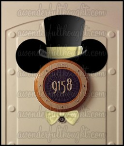 Stateroom Mickey Ears Top Hat & Bow Tie | awonderfulthought.com