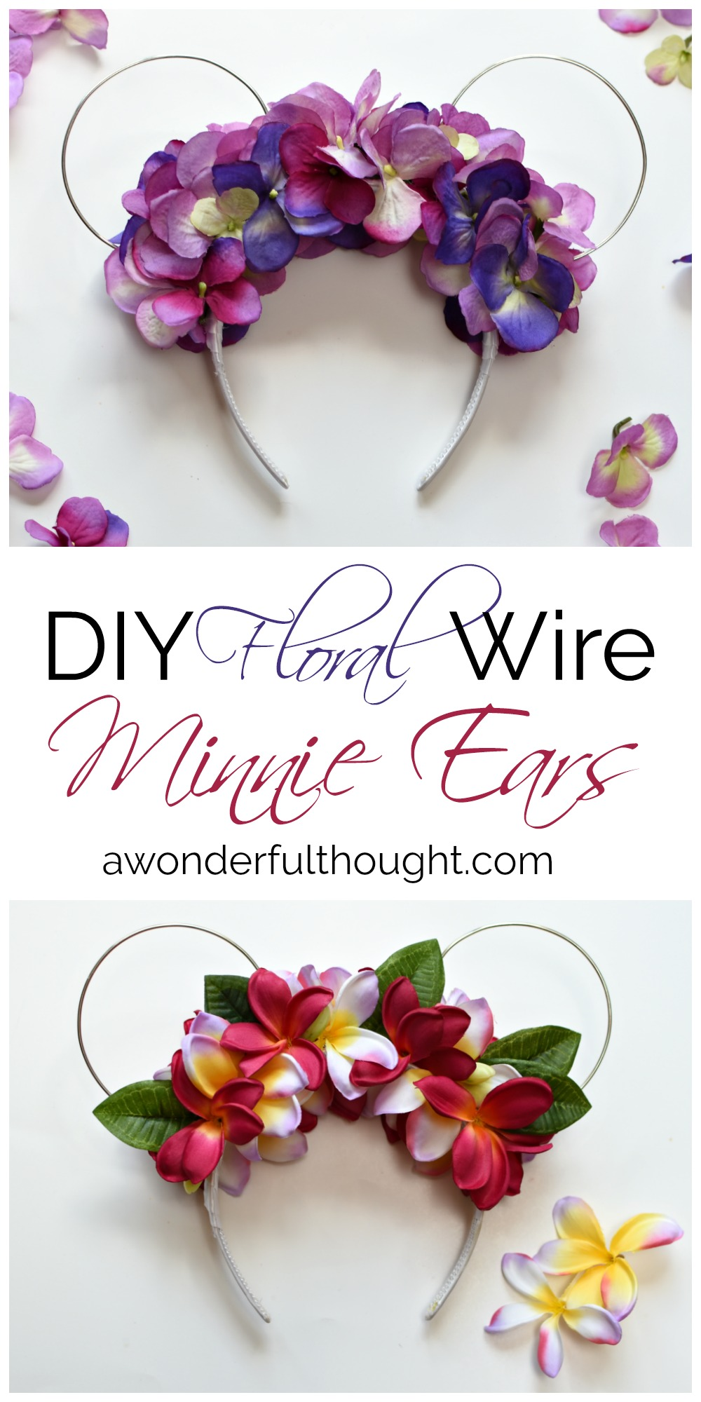 Diy floral wire minnie ears a wonderful thought diy floral wire minnie ears awonderfulthought izmirmasajfo