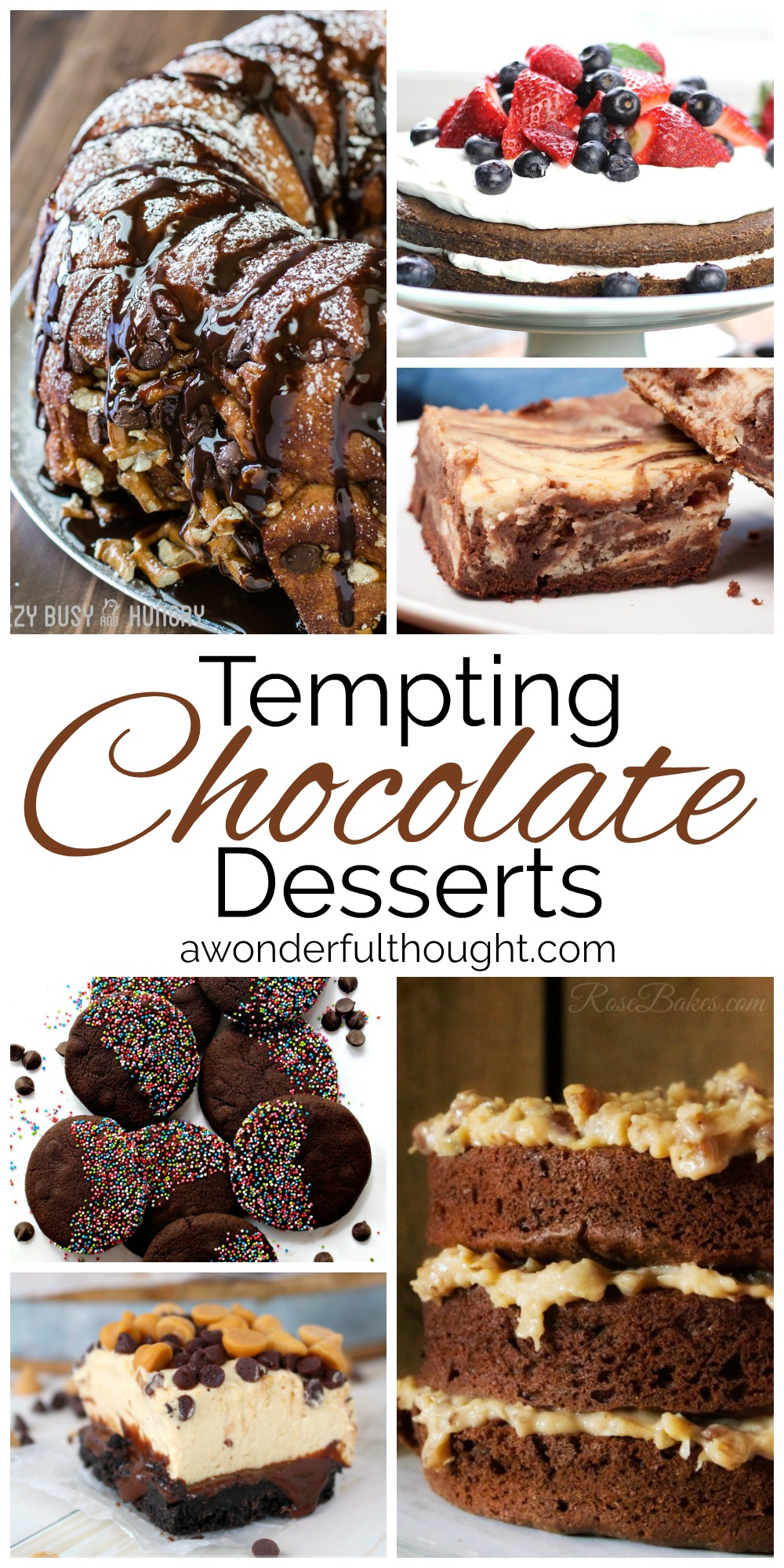 Tempting Chocolate Desserts | awonderfulthought.com