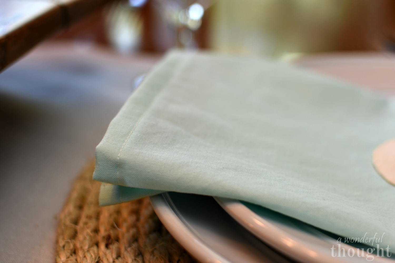 Simple DIY Cloth Napkins - A Wonderful Thought