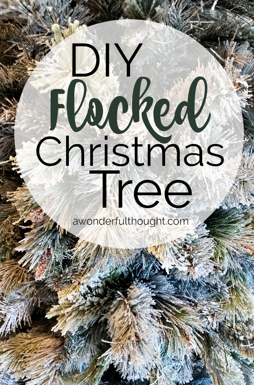 diy flocked christmas tree christmastree flockedtree diyflockedtree awonderfulthoughtcom