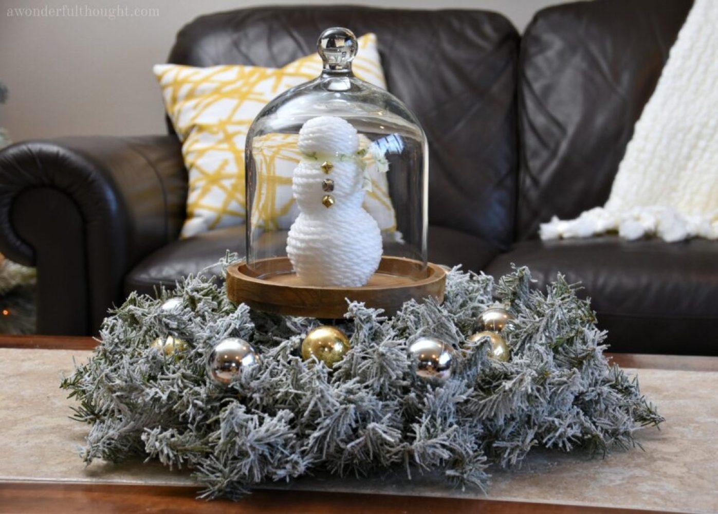 Abstract Snowman DIY #snowman #christmascraft #winterdecor #awonderfulthought.com