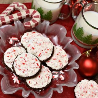 Hot Cocoa Peppermint Cookies #Christmascookies #cookierecipe #chocolatecookies #awonderfulthought.com
