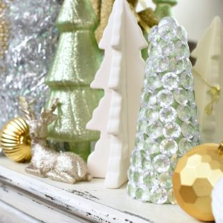 Dollar Store Craft | Sparkly Gem Christmas Tree