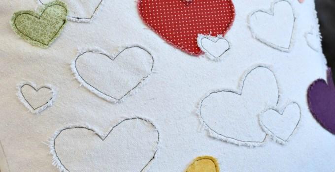 Scrappy Heart Pillow