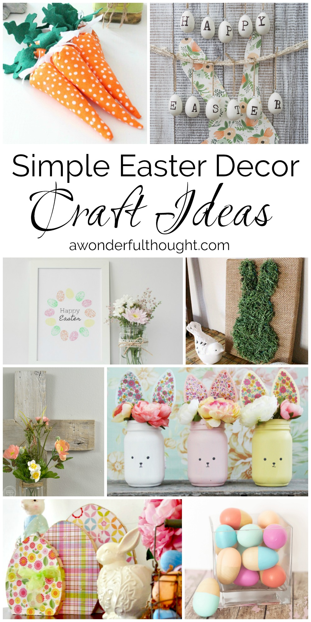 Simple Easter Decor Craft Ideas A Wonderful Thought