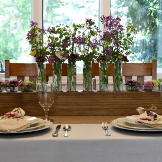 Summer Wildflowers Tablescape