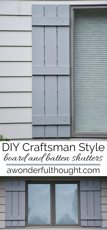 Diy Craftsman Style Board And Batten Shutters A Wonderful