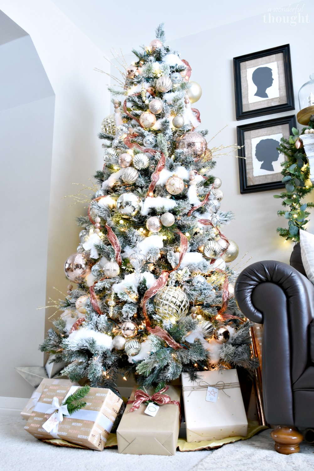 Blush and Rose Gold Christmas Tree - A Wonderful Thought