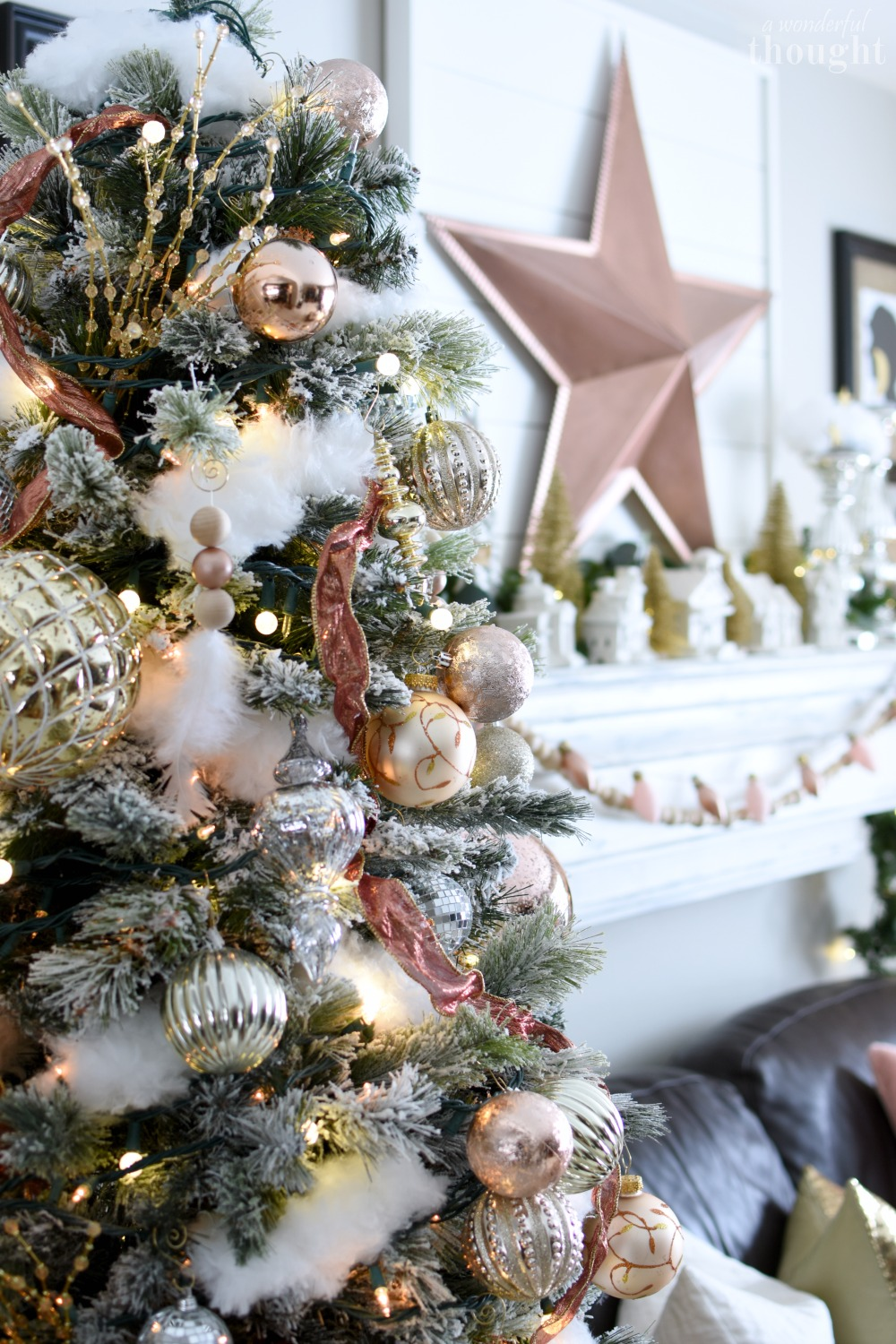 Blush And Rose Gold Christmas Tree A Wonderful Thought
