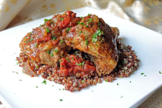 Moroccan Chicken with Saffron, Tomatoes, and Honey