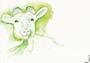 Chinese Zodiac, River of Animals - Goat