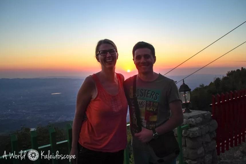 Mit meinem albanischen CS-Host auf dem Mt. Dajti in Tirana