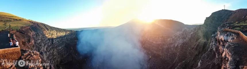 Sonnenuntergang am Volcán Masaya