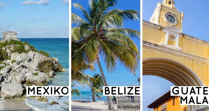 Reiseroute Mexiko, Belize, Guatemala: Von der Karibik ins Herz der Maya-Kultur