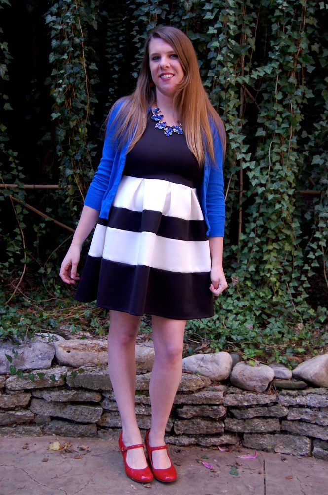 black blue dress