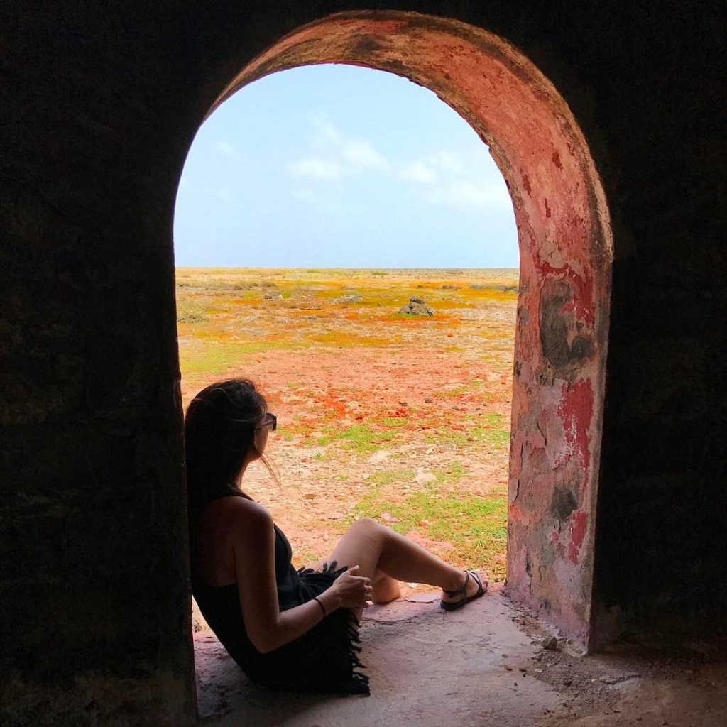 Taking in the view on Klein Curaçao