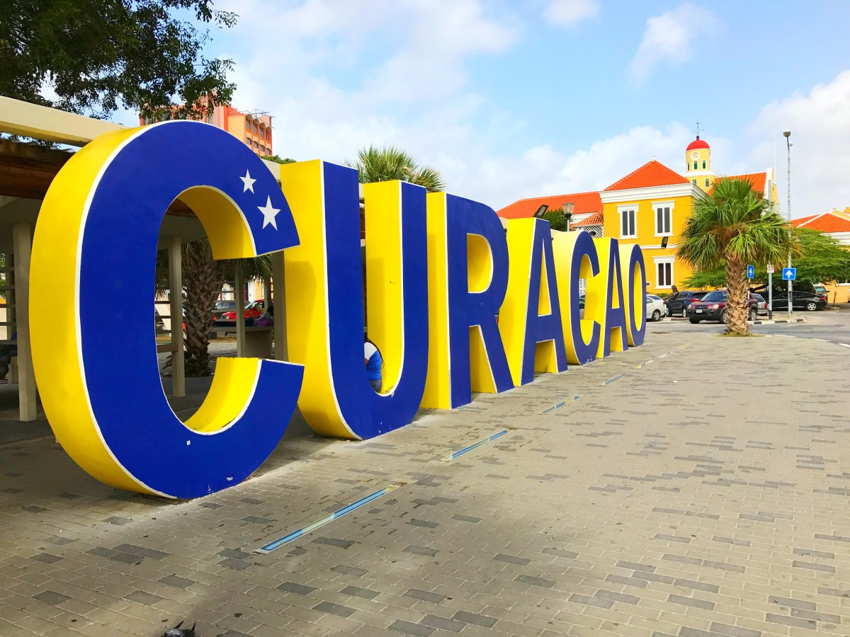 Curaçao sign in downtown Willemstad