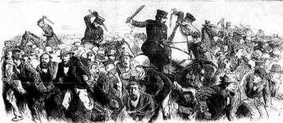 Tompkins Square police riot, New York City, 1874.