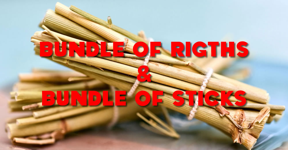 The comparison of bundle of rights and bundle of sticks
