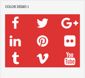 Social icons red white color