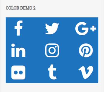 Social Media Widget Preview Icon white blue color
