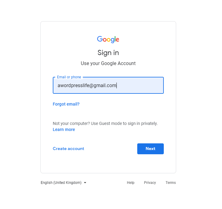 Sign In For Google reCaptcha - A WP Life